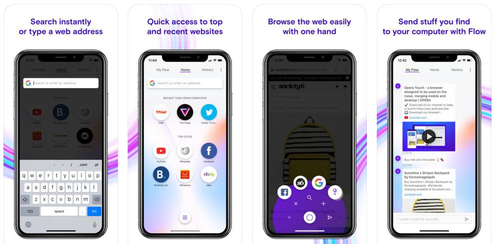 رسميًا متصفّحOpera Touch متاح الآن على iOS