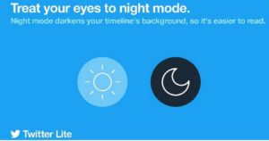 """الوضع الليلي أصبح متاحًا لمستخدمي النسخة المخفف لتطبيق تويتر """"لايت"""""""