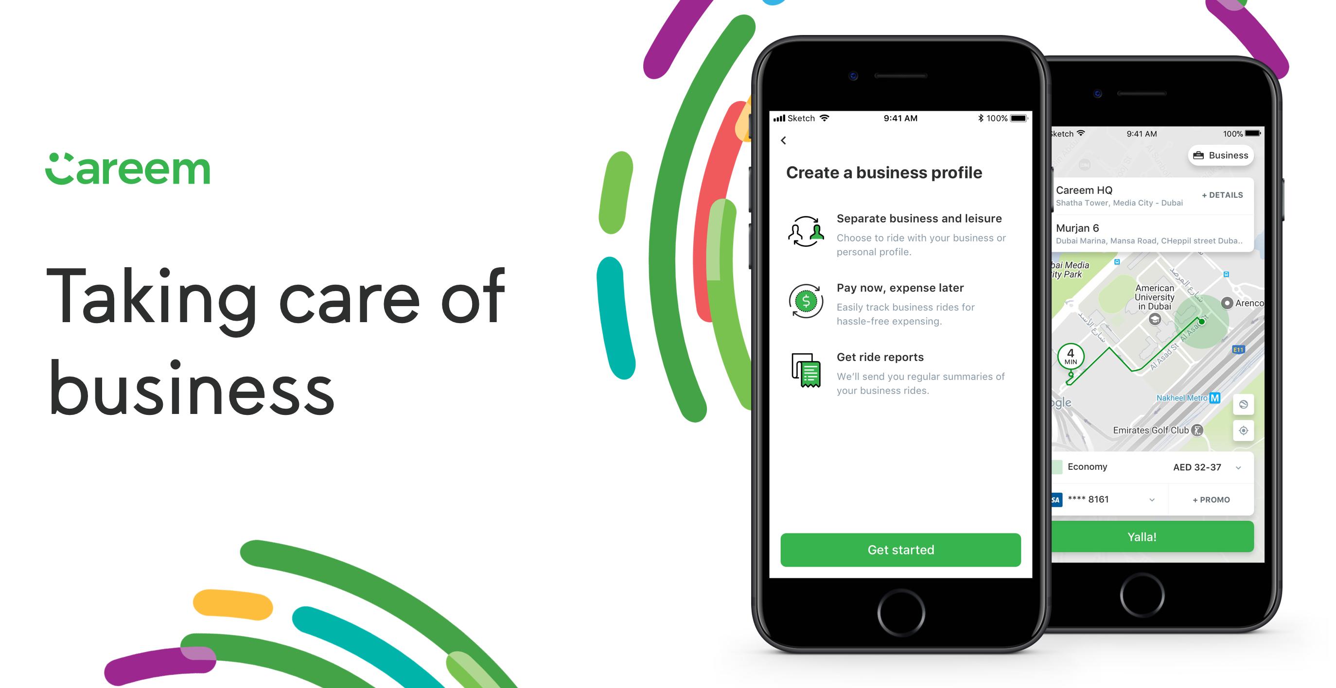 خدمة التوصيل كريم تدعم الآن إنشاء حساب خاص للأعمال