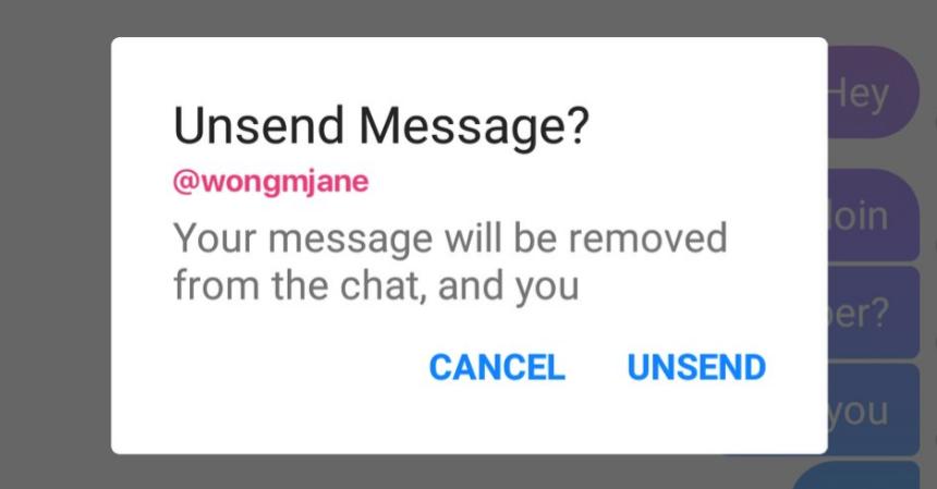 فيسبوك تدعم خاصية التراجع عن الإرسال في تطبيقها ماسنجر