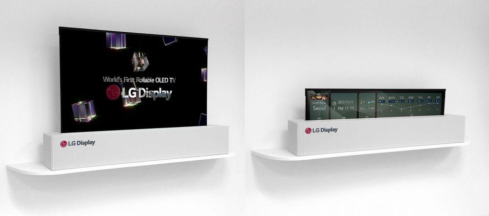 إل جي تبدأ بيع تلفزيوناتها القابلة للف في 2019