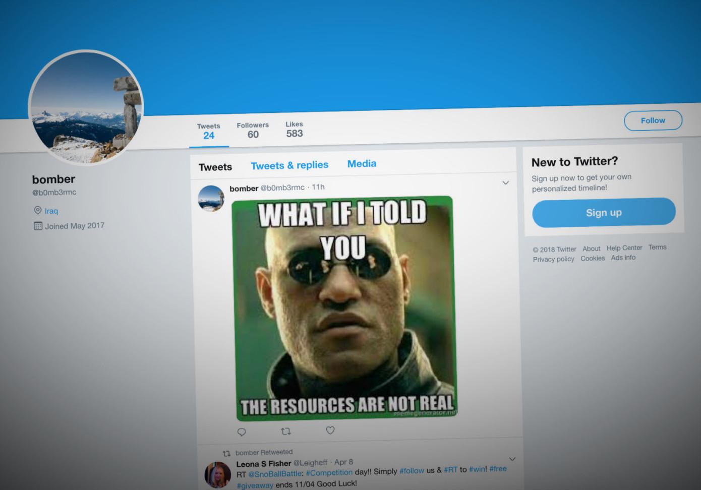 اكتشاف أكواد برمجية خبيثة في الصور الساخرة على تويتر تصل لبيانات المستخدمين
