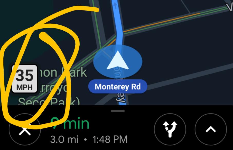 """أخيرًا خرائط قوقل تحصل على ميزة """"التنبيه بالحد الأقصى للسرعة"""""""
