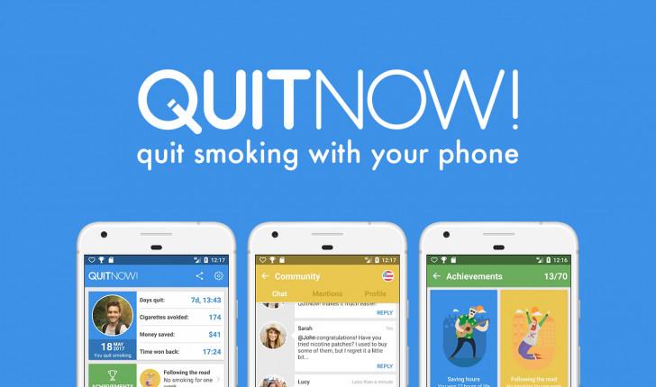 تطبيقQuitNow يساعدك على الإقلاع عن التدخين