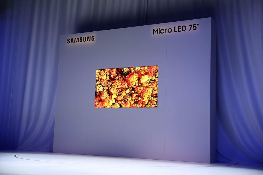 CES 2019: سامسونج تكشف عن تلفزيون ضخم بقياس 75 بوصة من نوع MicroLED