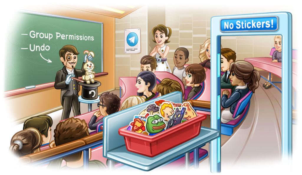 تحديث تيليغرام يجلب مزايا جديدة للتحكم بالمجموعات وإلغاء الحذف