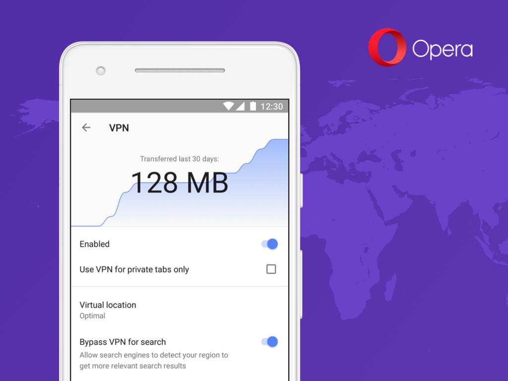 يعود أوبرا VPN كسمة على المتصفّح في أندرويد