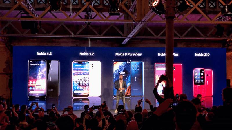 MWC19: نوكيا تكشف عن عدد من الهواتف الذكية بمواصفات متنوعة وأخر من الفئة التقليدية