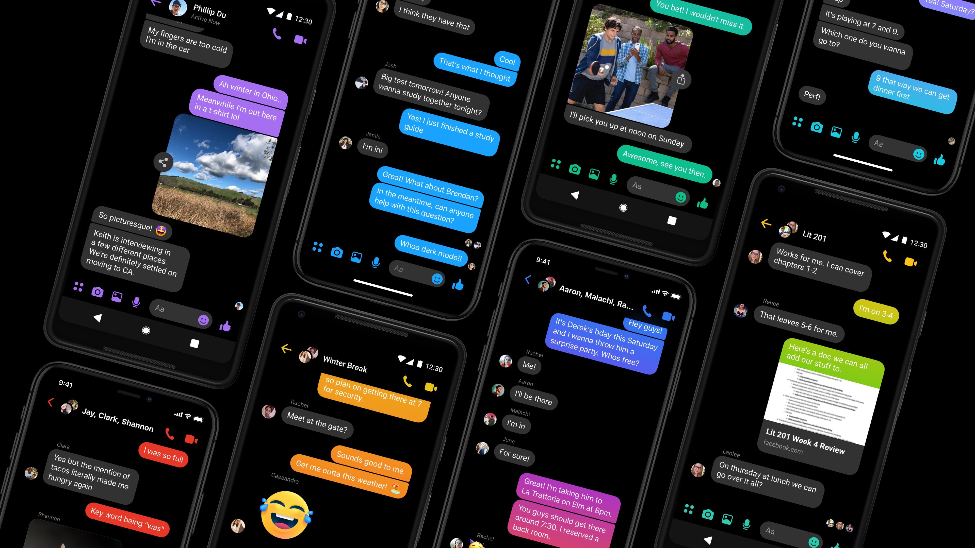 فيسبوك تُؤكد قدوم الوضع المُظلم لجميع مستخدمي ماسنجر خلال الأسابيع المقبلة