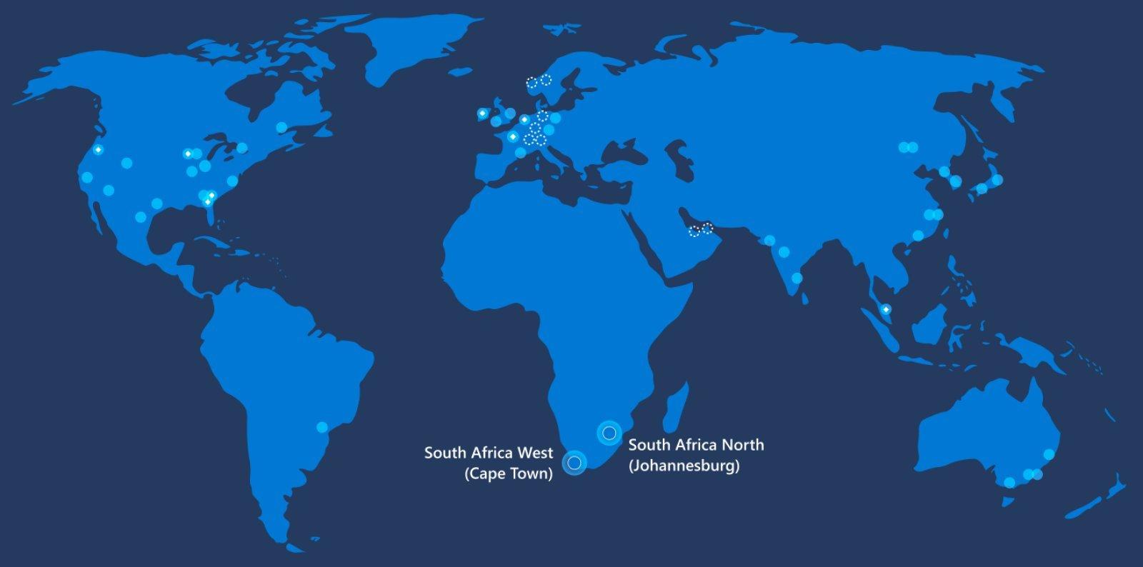 مايكروسوفت تفتح أول مركز بيانات للخدمات السحابية في جنوب إفريقيا