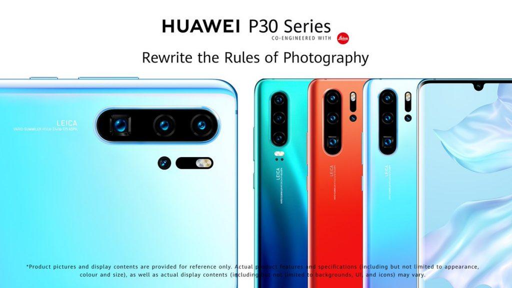 هواوي تكشف النقاب عن هاتفيها P30 وP30 Pro مع تقريب بصري عالي