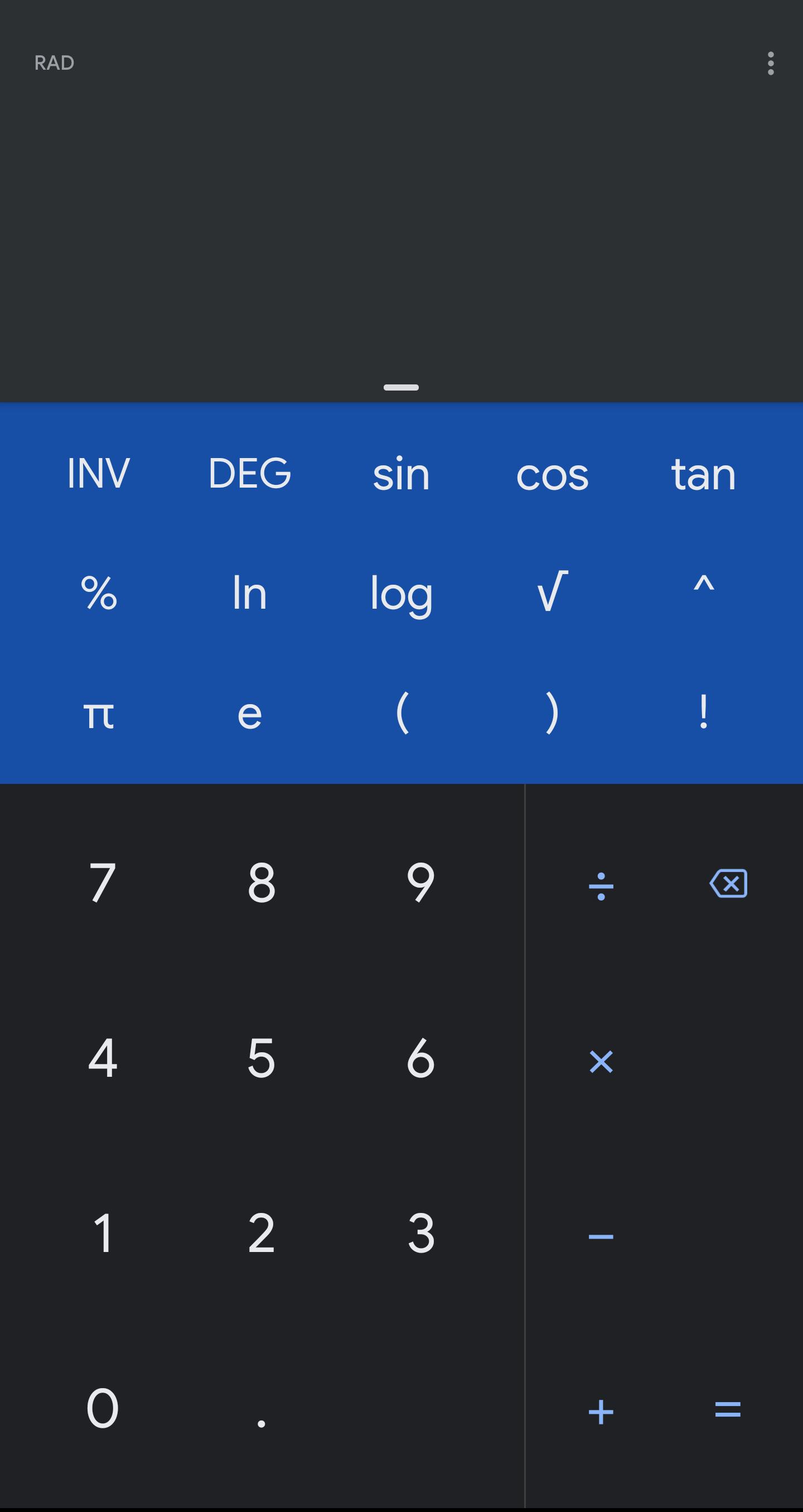 """تطبيق الآلة الحاسبة """"Calculator"""" من قوقل يحصل على الوضع المُظلم"""