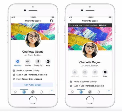 فيس بوك تعيد خاصية عرض الملف الشخصي كما يبدو للعامة