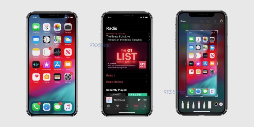 لقطة شاشة مسربة تؤكد إحتفاء نسخة iOS 13 على الوضع المظلم وعدداً من التحسينات الأخرى