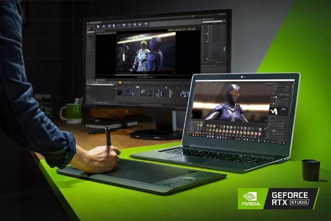 نفيديا تعلن عن منصة RTX Studio للابتوبات أعلى أداءً بـ 7 مرات من MacBook Pro