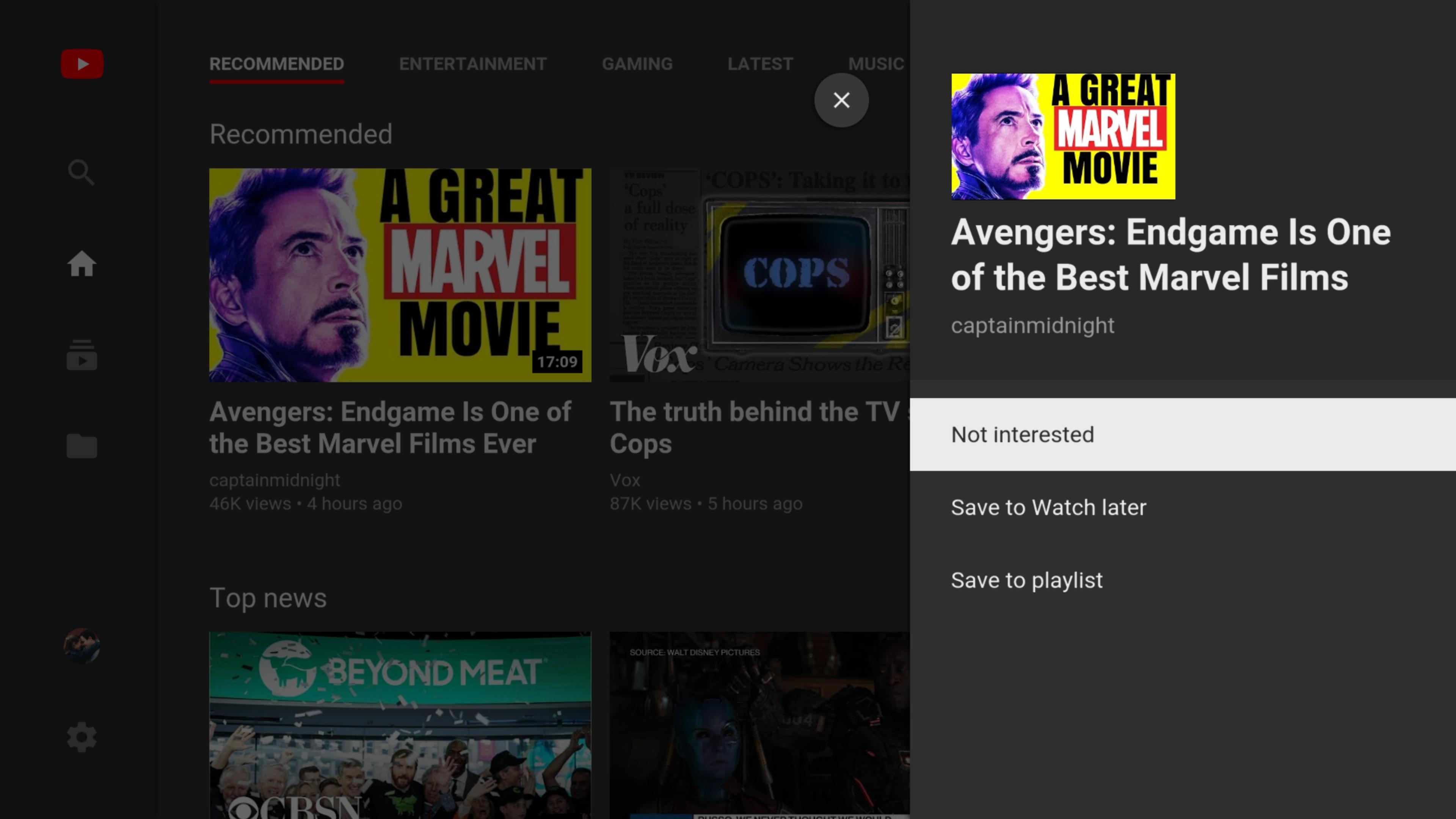 تطبيق يوتيوب على التلفاز يدعم أخيرًا حفظ مقاطع الفيديو لمشاهدتها لاحقًا