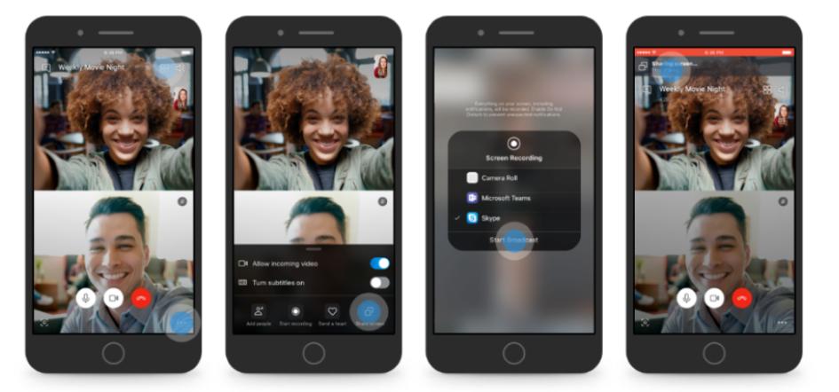 رسميًا تطبيق سكايب يدعم ميزة مشاركة الشاشة على أندرويد و iOS
