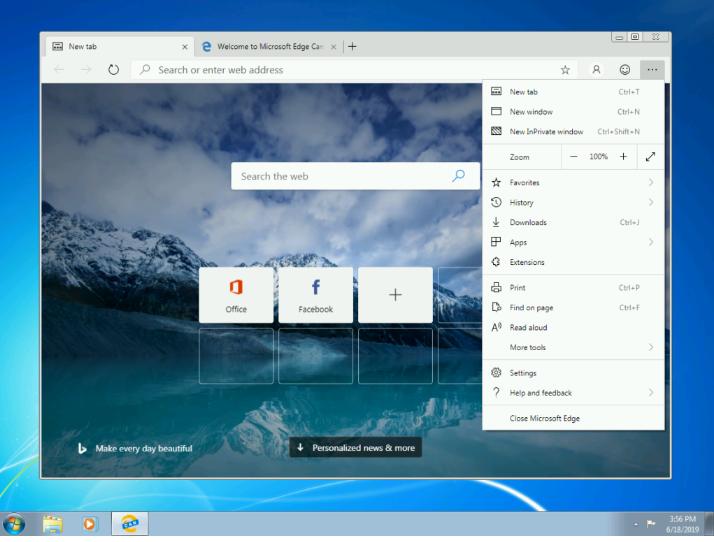 متصفح Edge المبني على كروميوم الآن يدعم ويندوز 7 و 8