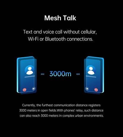 أوبو تستعرض تقنية للاتصال بلا أي نوع من الشبكات حتى 3 كيلومتر