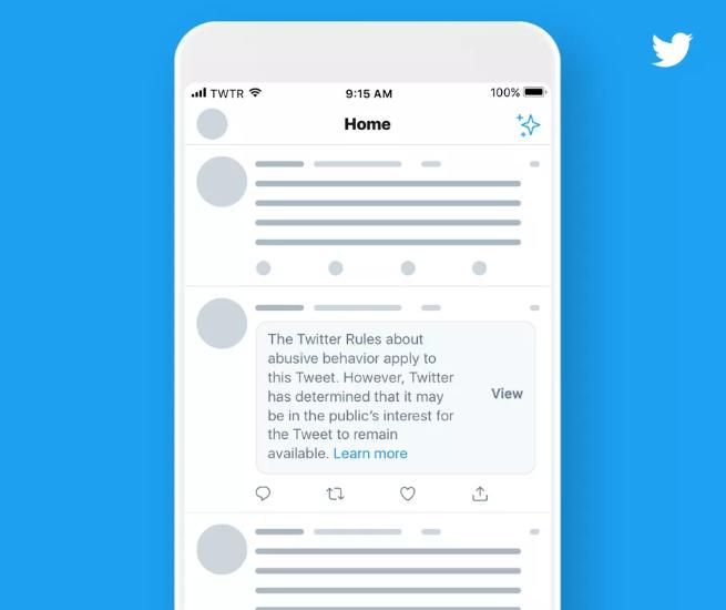 تويتر ستخفي تغريدات المشاهير المخالفة لبنود الاستخدام
