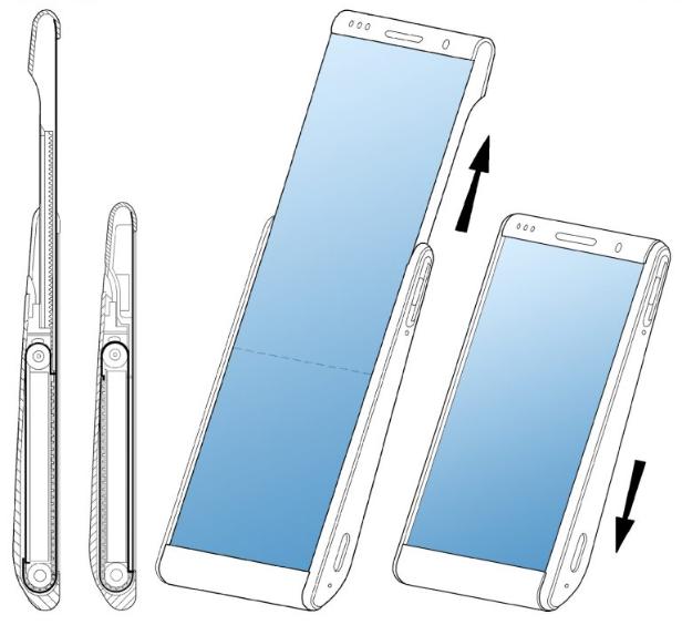 براءة اختراع من سامسونج لهاتف بشاشة قابلة للف