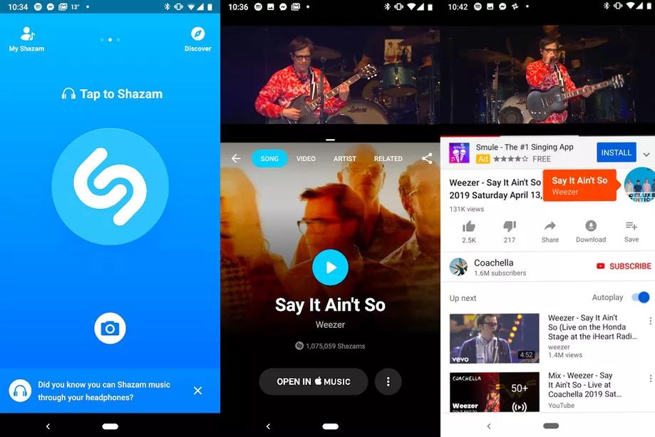 تطبيق Shazam يدعم التعرّف على الصوت من التطبيقات
