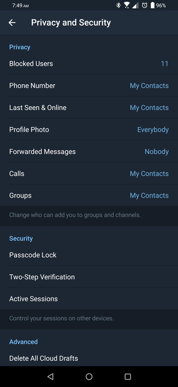 تحديث تطبيق تيليجرام يُعزز الخصوصية ويُحسّن أدوات المجموعات والقنوات
