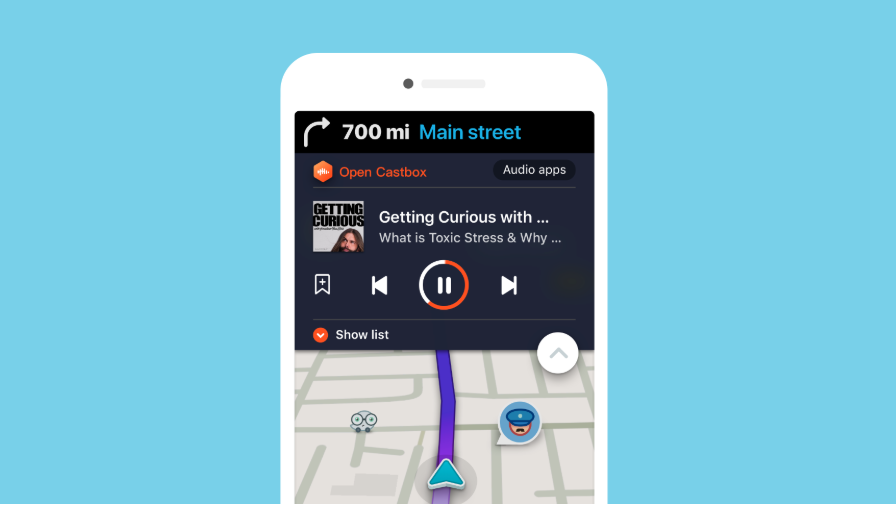 تعاون بينWaze مع Castbox لتقديم تجربة بودكاست مخصصة