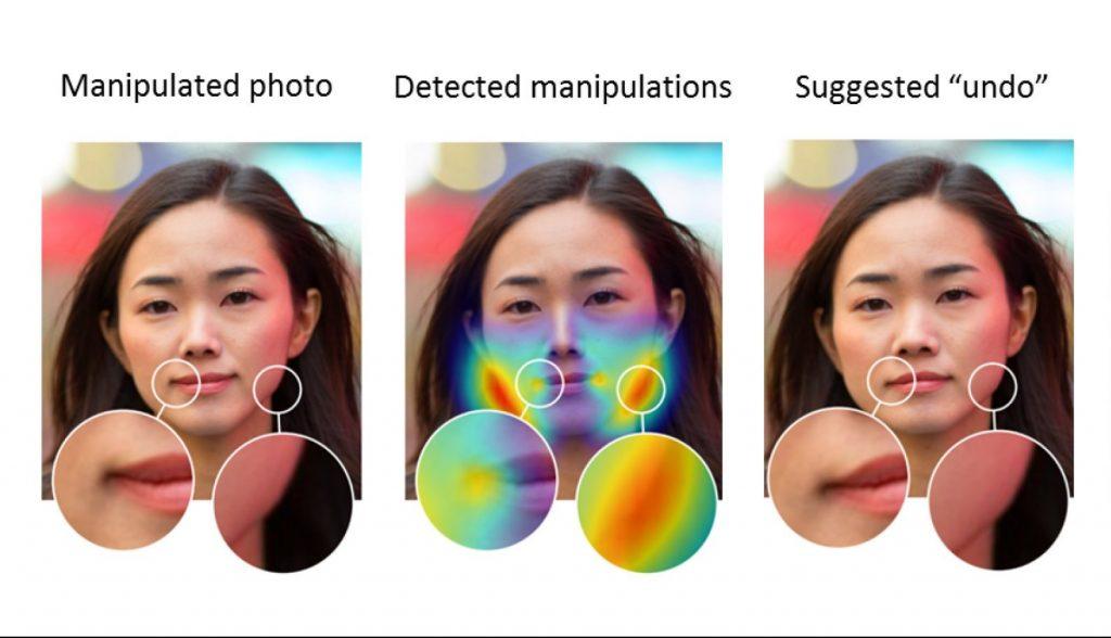 تقنية ذكاء اصطناعي من أدوبي للتعرف إذا كانت ملامح الوجه بالصورة معدلة