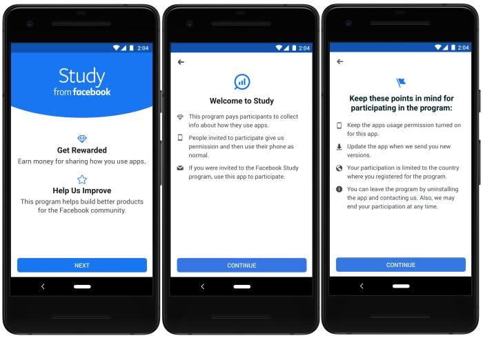 مرة أخرى فيسبوك تُطلق تطبيقًا جديدًا لجمع البيانات Screenwise Meter