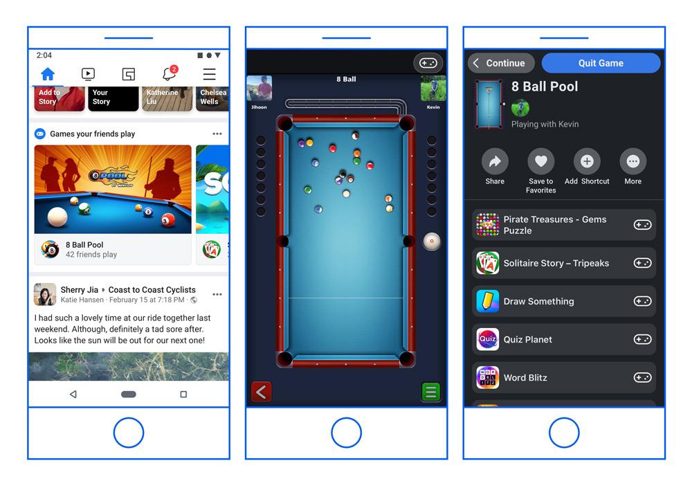 فيسبوك تنقل ألعابها الفورية من ماسنجر إلى علامة التبويب فيسبوك للألعاب