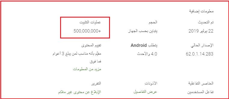 """تطبيق فيسبوك ماسنجر """"لايت"""" يتجاوز 500 مليون تحميل على متجر جوجل بلاي"""