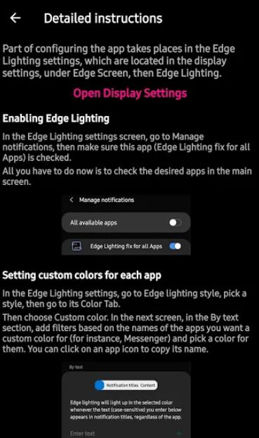 تطبيق Fix Edge للحصول على إشعارات Edge Lighting أثناء إيقاف تشغيل الشاشة