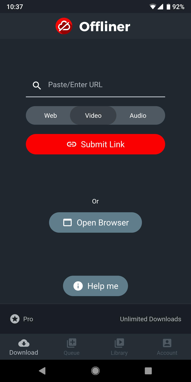 تطبيق جديد لتخزين المحتوى عبر الإنترنت وعرضه لاحقًا بدون اتصال