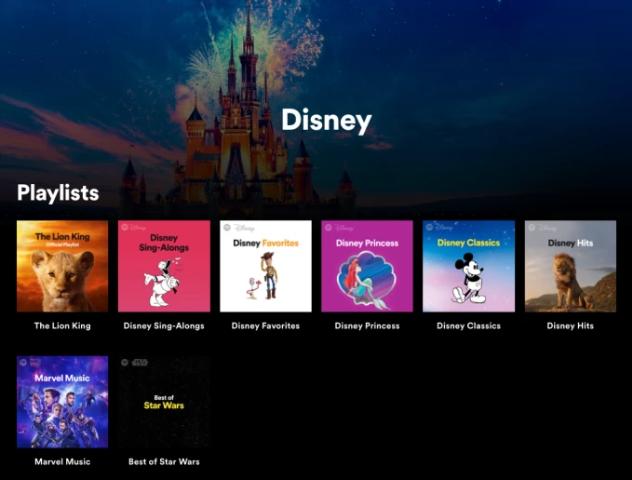 """سبوتيفاي تعلن عن """"Disney Hub"""" قسم خاص بمسارات ديزني الموسيقية المتنوعة"""