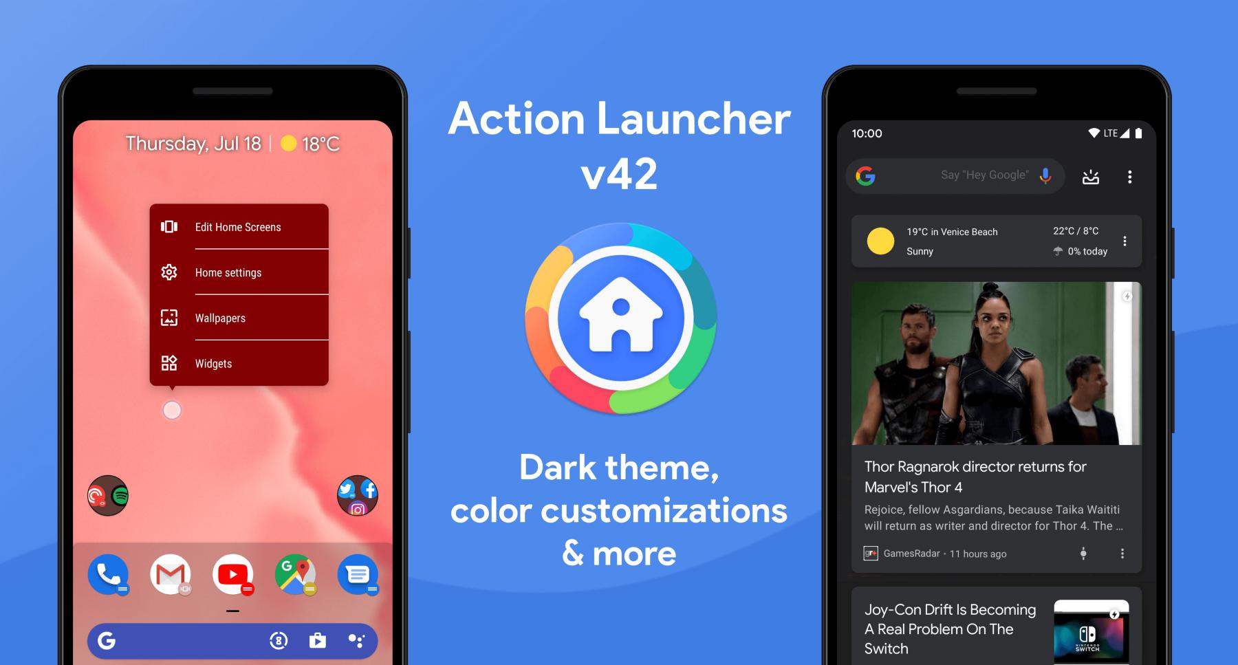 تحديث تطبيق Action Launcher يحصل على المزيد من تخصيص الثيمات وأكثر