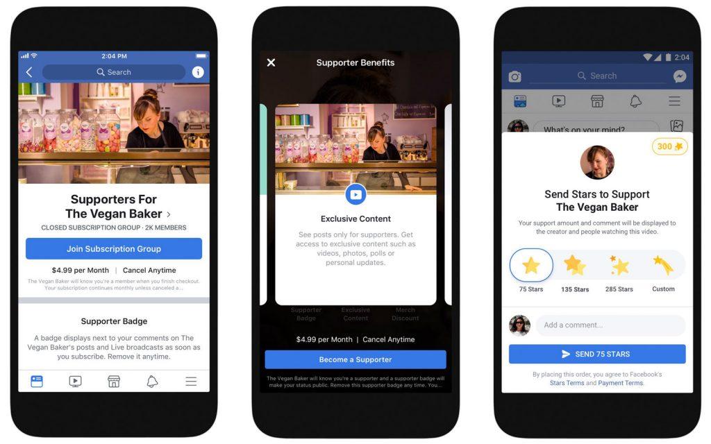 فيس بوك تتيح المزيد من الطرق لكسب المال من المحتوى