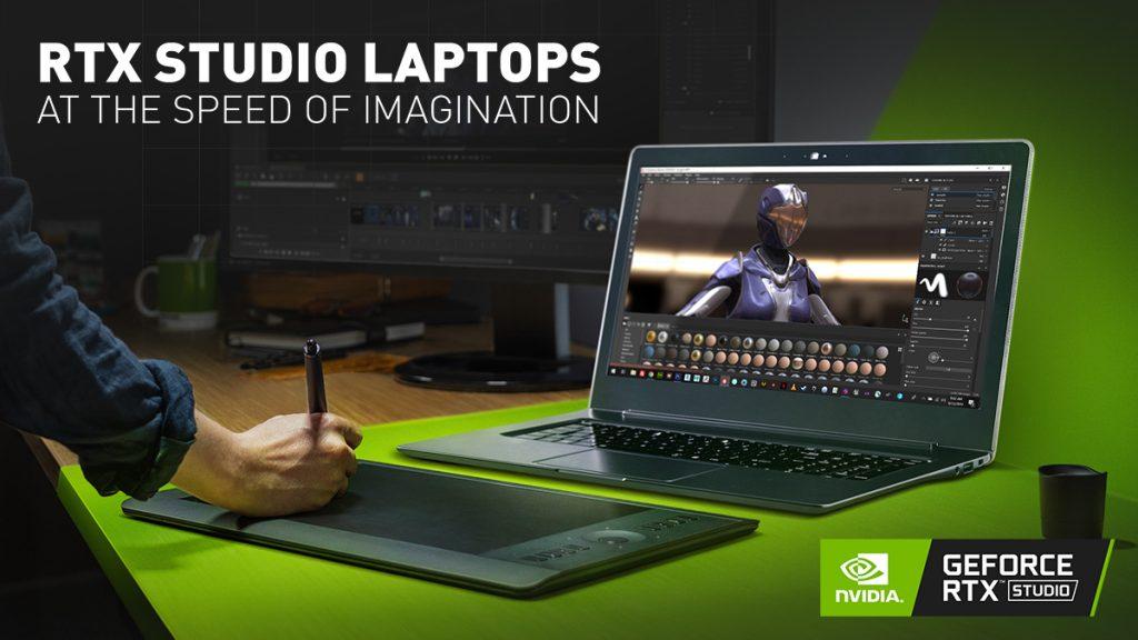 10 أجهزة تنضم إلى NVIDIA RTX Studio من كبرى شركات الكمبيوتر