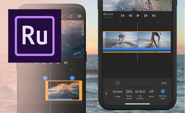 أدوبي تُضيف خيار ضبط السرعة في تطبيقها Premiere Rush
