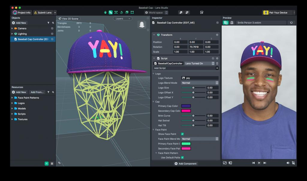 سناب تحدث تطبيق Lens Studio لدعم المزيد من صناع المحتوى