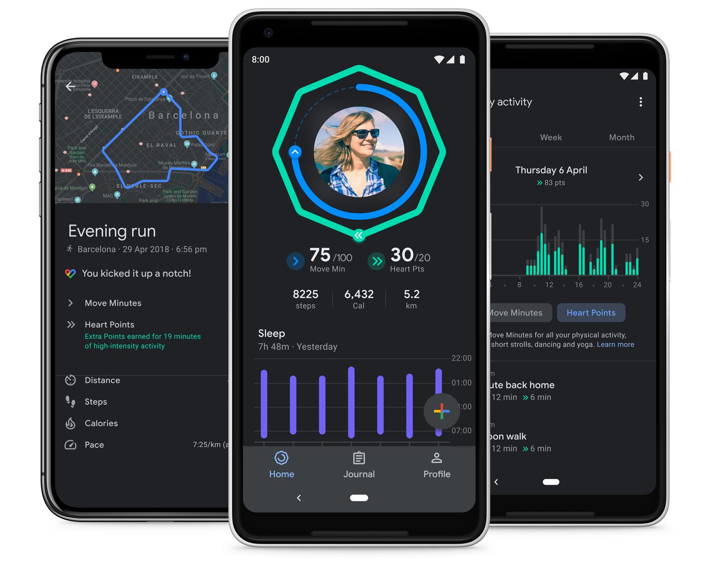 تطبيق Google Fit يأتي بالوضع المُظلم لجميع المستخدمين وأكثر