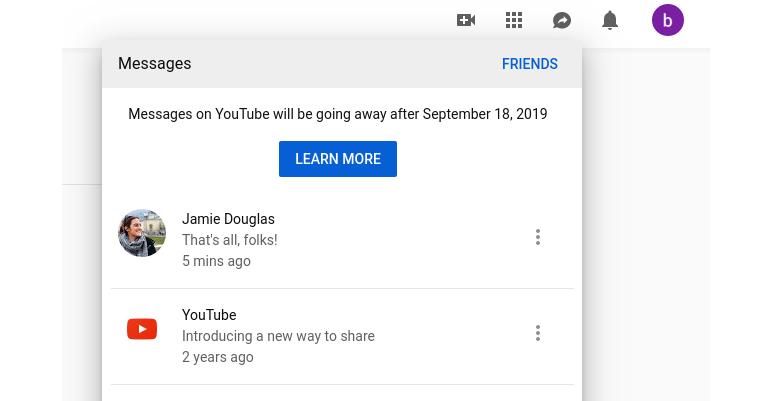 يوتيوب توقف ميزة الرسائل المباشرة في 18 سبتمبر القادم - عالم التقنية