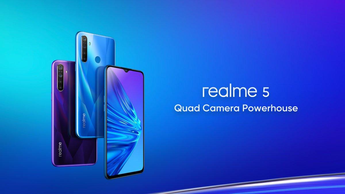 شركة ريملي كشفت عن هواتفها الجديدة Realme 5 و Realme 5 Pro
