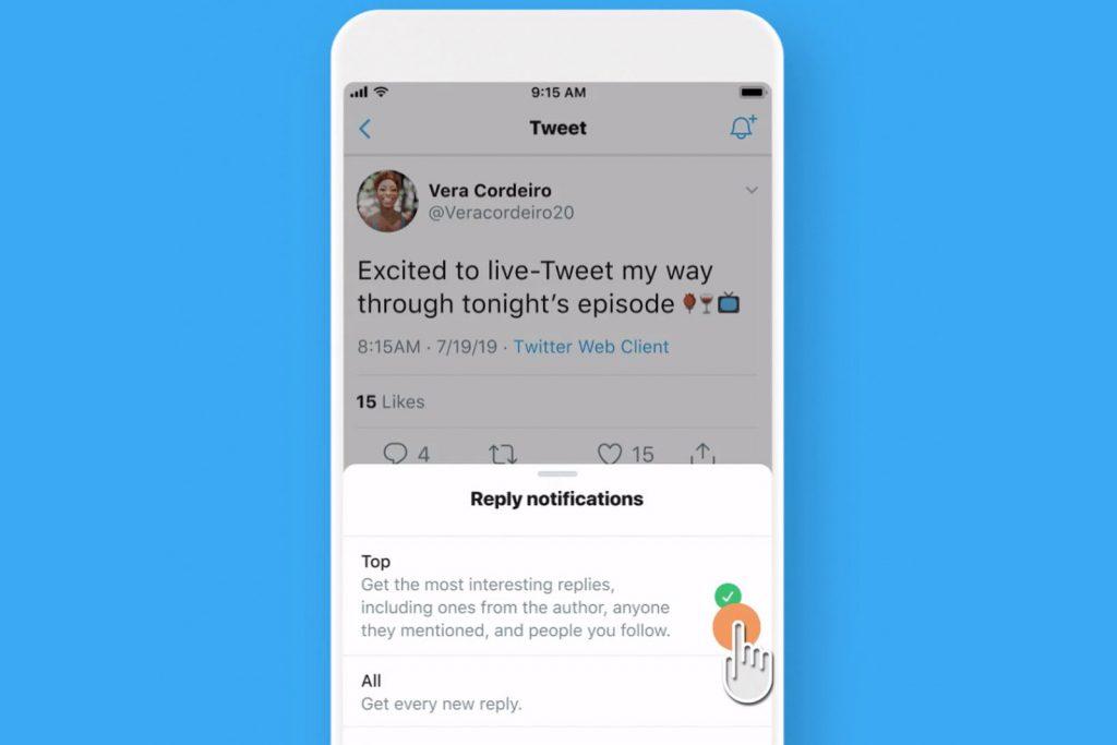 تويتر تختبر ميزة ارسال اشعارات لبعض ردود التغريدات المهمة على أندرويد وiOS
