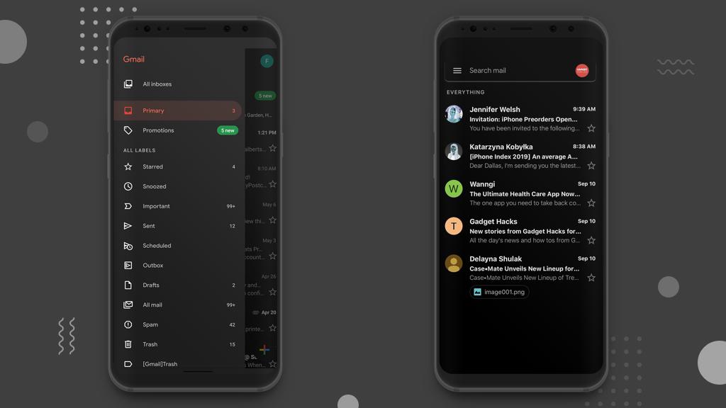رسميًا تطبيق جيميل يأتي بالوضع المُظلم لمستخدمي أندرويد و iOS