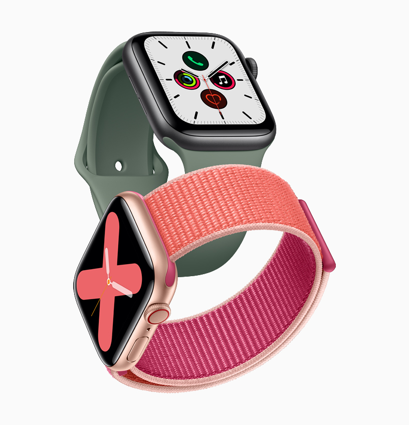 Apple_watch_series_5-gold-aluminum-case-pomegranate-band-and-space-gray-aluminum-case-pine-green-band-091019_big.jpg.large_