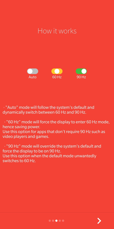 تطبيق Auto90 يتيح لحملة هواتف ون بلس 7 برو التحويل من 60 إلى 90 هرتز والعكس