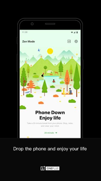 شركة ون بلس تجعل ميزتها الجديدة Zen Mode كتطبيق مستقل على متجر جوجل بلاي