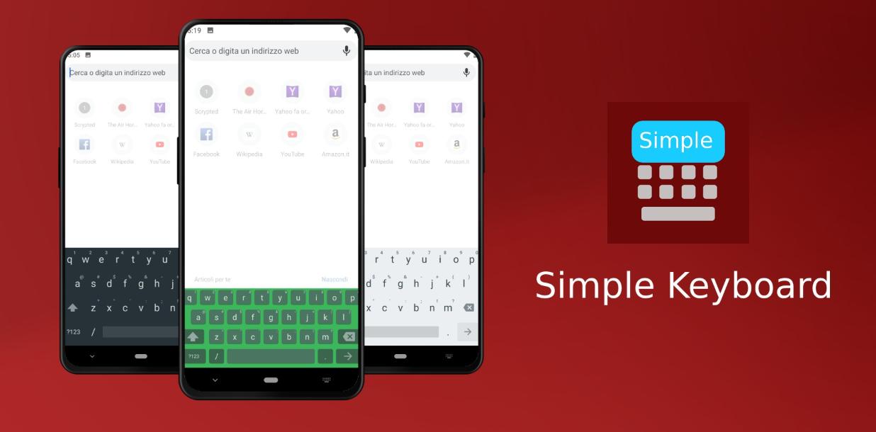 تطبيقات أندرويد جديدة - Simple Keyboard