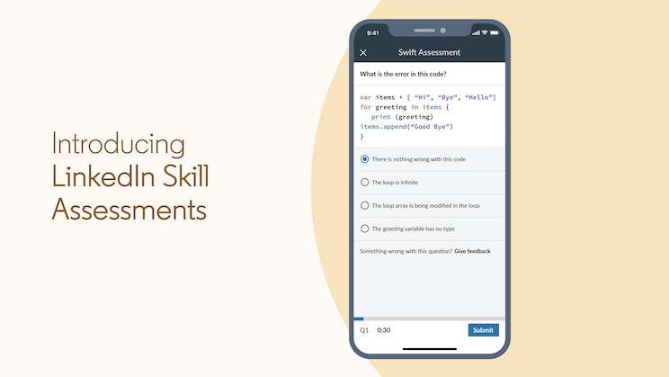 لينكدإن تضيف ميزة الاختبارات القصيرة للتأكد من المهارات المضافة في السيرة الذاتية - LinkedIn